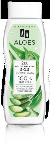 AA ALOES Żel multifunkcyjny S.O.S. do rąk i ciała 100% Aloe Vera 250 ml