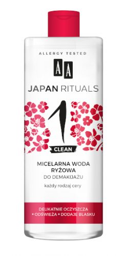 AA JAPAN RITUALS Micelarna woda ryżowa 400 ml
