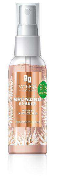 AA WINGS OF COLOR Bronzing Shaker Mgiełka Nawilżająco-Rozświetlająca 90% Aloe 50ml