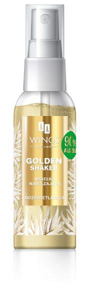 AA WINGS OF COLOR Golden Shaker Mgiełka Nawilżająco-Rozświetlająca 90% Aloe 50ml