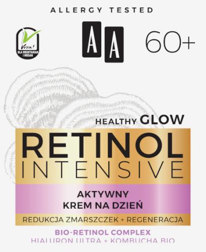 AA RETINOL INTENSIVE 60+ aktywny krem na dzień redukcja zmarszczek+regeneracja 50 ml