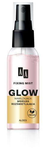 AA Fixing Mist Glow Nawilżająca mgiełka rozświetlająca Aloes 50 ml