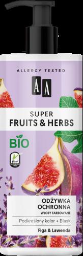 AA SUPER FRUITS&HERBS odżywka ochronna włosy farbowane figa&lawenda 500 ml, Nr Ref.: 70049