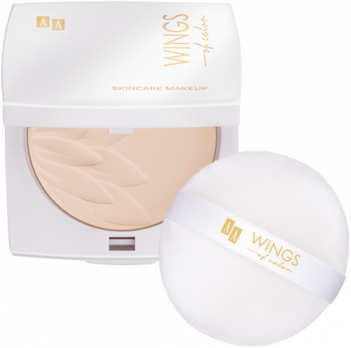 AA WINGS OF COLOR PUDER SILKY 90 TRANSPARENT