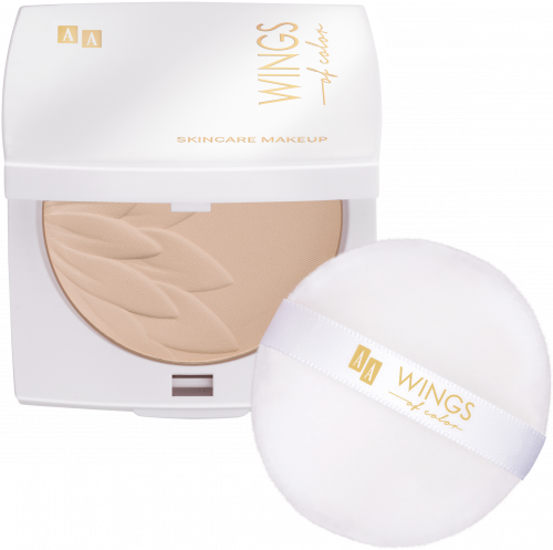 AA WINGS OF COLOR PUDER SILKY 91 LIGHT BEIGE