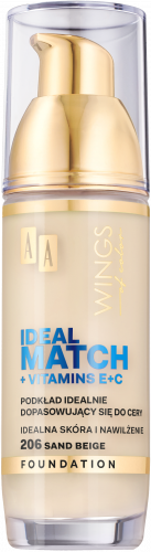 AA WINGS OF COLOR PODKŁAD IDEAL MATCH 206 30ML