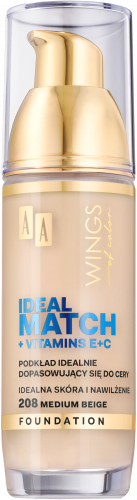 AA WINGS OF COLOR PODKŁAD IDEAL MATCH 208 30ML