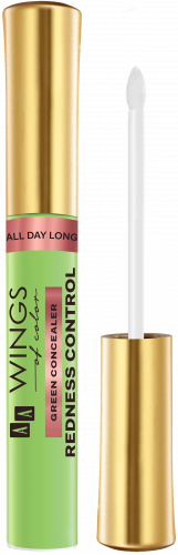 AA WINGS OF COLOR All Day Long Green Concealer Redness Control 6ml