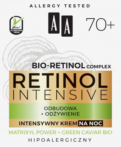 AA RETINOL INTENSIVE 70+ intensywny krem na noc odbudowa+odżywienie 50 ml