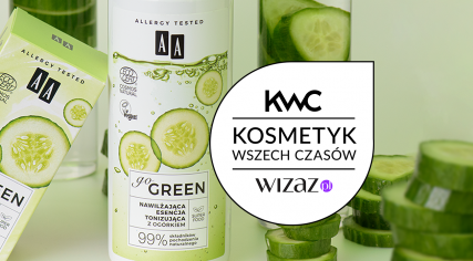 Nawilżająca esencja tonizująca zogórkiem AA go GREEN Kosmetykiem Wszech Czasów 2021 według społeczności Wizażanek!