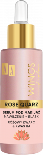 AA WINGS OF COLOR Rose Quarz Serum Pod Makijaż Różowy Kwarc I Kwas Ha 30ml, Nr Ref.: 76201