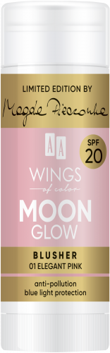 AA WINGS OF COLOR Moon Glow Blusher Spf20 by Magda Pieczonka 01 Elegant Pink 20g, Nr Ref.: 76829