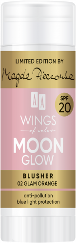 AA WINGS OF COLOR Moon Glow Blusher Spf20 by Magda Pieczonka 02 Glam Orange 20g, Nr Ref.: 76836