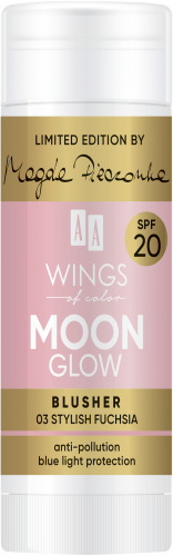 AA WINGS OF COLOR Moon Glow Blusher Spf20 by Magda Pieczonka 03 Stylish Fuchsia 20g, Nr Ref.: 76843