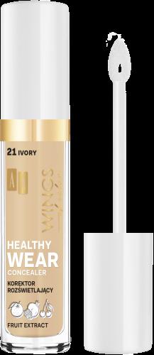AA WINGS OF COLOR Healthy Wear Concealer Korektor Rozświetlający 21 Ivory 6,2 g