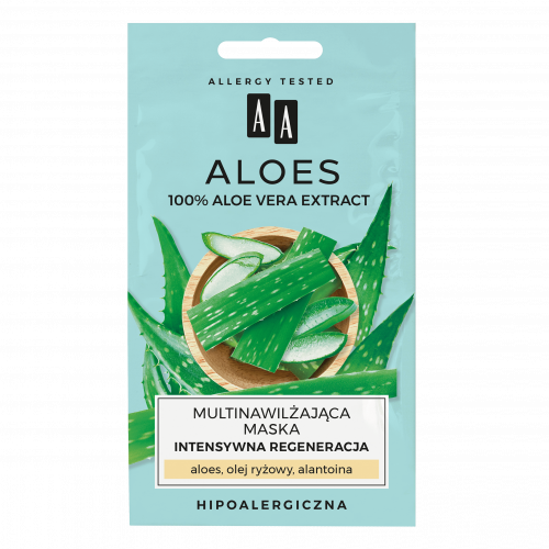 AA ALOES 100% aloe vera extract multinawilżająca maska intensywna regeneracja 2x4ml