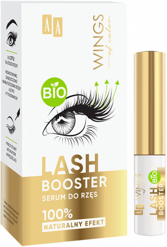 AA WINGS OF COLOR Lash Booster Serum Do Rzęs 100% Naturalny Efekt 3ml, Nr Ref.: 76102
