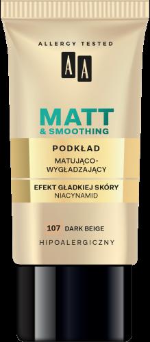 Podkład matująco-wygładzający 107 dark beige 30 ml